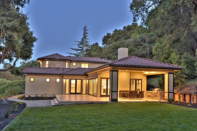 10880 magdalena rd los altos large 060 7 back of house at dusk 1500x1000 72dpi %281%29